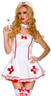 ToBeInStyle Women's Nurse Of Heart w/ Syringe Prop & Accessories Adult Sized Costumes Clothing
