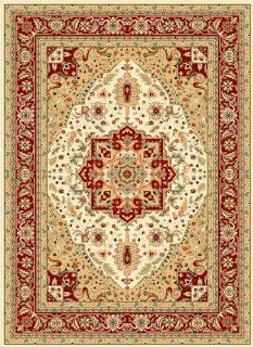 Safavieh Lyndhurst Collection LNH330A Ivory and Red Area Rug, 5 Feet 3 Inch by 7 Feet 6 Inch