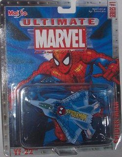 Maisto Ultimate Marvel Air Force Spider Man YF 22 Fighter Airplane Diecast Spiderman Plane Toys & Games