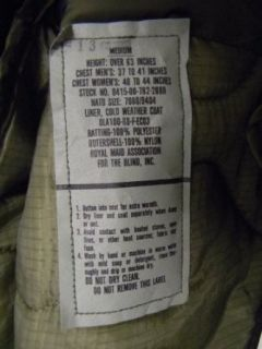 US Genuine Issue (GI) Army Military M 65 Field Jacket Liner OD Clothing