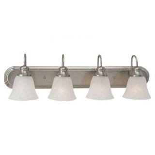Sea Gull Lighting Windgate 4 Light Brushed Nickel Vanity Fixture 44942BLE 962