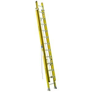 Werner 24 ft. Fiberglass D Rung Extension Ladder with 375 lb. Load Capacity Type IAA Duty Rating D7124 2