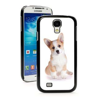 Samsung Galaxy S4 Black JB453 Hard Back Case Cover Color Cute Corgi Puppy Dog Cell Phones & Accessories