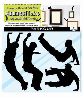 Molding Mates Action Parkour 9 Molding Mates Home Decor Peel and Stick Vinyl Wall Decal Stickers   Parkour Kids