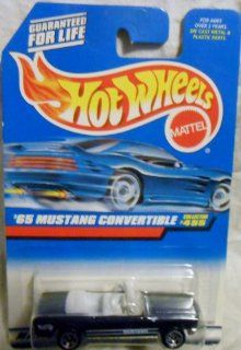 Mattel Hot Wheels 1998 164 Scale Black 1965 Ford Mustang Convertible Die Cast Car Collector #455 Toys & Games