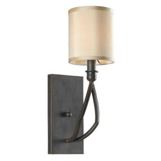 World Imports Decatur Rust Finish 1 Light Wall Sconce with Shade WI350142
