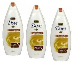 Dove Cream Oil Body Wash, Shea Butter, Warm Vanilla & Brown Sugar Scent, 16 Fl Oz/ 473 mL, (3 PACK)  Bath And Shower Gels  Beauty