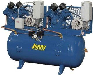 Jenny Compressors GT2C 60C 460/3 2 HP 60 Gallon Tank 3 Phase 460 Volt, Two Stage Simplex Electric Climate Control Compressor   Stacked Tank Air Compressors