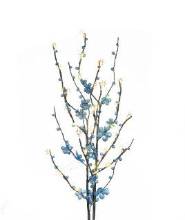 "Everlasting Glow LED 39"" Battery Operated 5 Petal Acrylic Flower Crystal, Blue   String Lights"