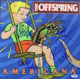 OFFSPRING (4) HOLLAND, NOODLES, WELTY & GREG K AUTHENTIC SIGNED ALBUM COVER CERTIFICATE OF AUTHENTICITY PSA/DNA #U14286 Entertainment Collectibles