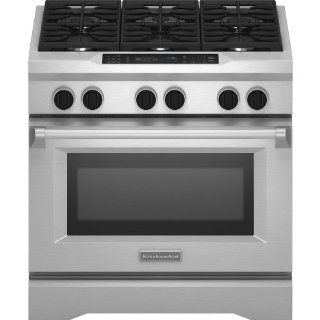 Kitchenaid KDRS467VSS Commercial Style Dual Fuel Range Appliances
