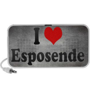 I Love Esposende, Portugal Notebook Speakers