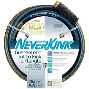 Apex 5/8 in. x 75 ft. NeverKink Extra Heavy Duty Water Hose 8640 75