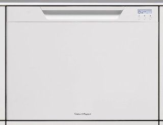 Fisher Paykel DishDrawer Series DD24SCTW6V2 Semi Integrated Single Drawer Dishwasher with 9 Wash Programs, Intelligent Load Sensing, Adjustable Racks, Folding Tines, Tall Tub and ADA Compliant White with Recessed Handle Appliances