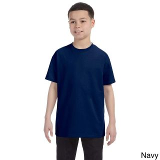 Gildan Gildan Youth Heavy Cotton T shirt Navy Size L (14 16)