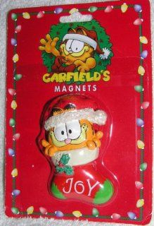 "1996 Garfield the Cat in Christmas Stocking 3"" Magnet"