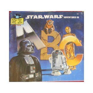 STAR WARS Adventures in A B C #481 (24 pg Read Along Book and 33 1/3rpm Record) Lucas Film Ltd. Books