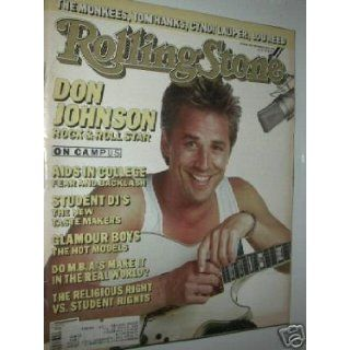 DON JOHNSON issue of ROLLING STONE MAGAZINE # 483   SEPTEMBER 25TH, 1986 rolling stone Books