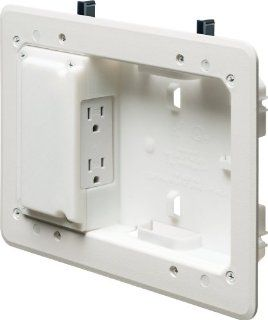 Arlington TVL508 1 Low Profile TV Box for Shallow Walls, 8 inch x 5 inch Box, 1/2 inch or 5/8 Inch Drywall, 1 Pack   Electrical Boxes
