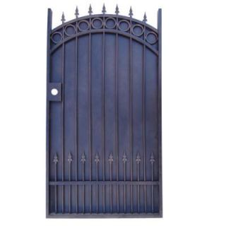 43 in. x 72 in. Single Walk Through Metal Dark Bronze Gate TRGG 124 Sheet