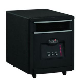 Duraflame 1500 Watt Infrared Quartz Electric Portable Heater   Black Steel Finish 8HM1500