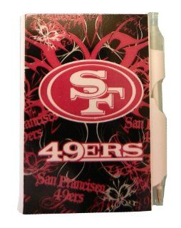 San Francisco 49ers Mini Pocket Notepad & Pen Set   Pink & Black Fashionable Design  Sports Fan Writing Pens  Sports & Outdoors