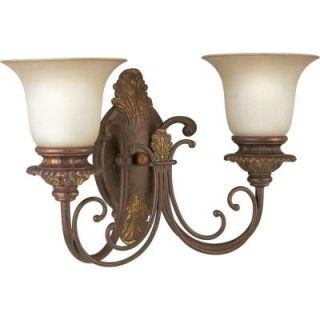 Thomasville Lighting Messina Collection Aged Mahogany 2 light Wall Sconce P2705 75