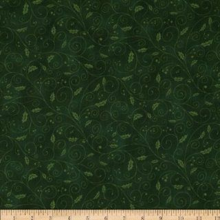 Holiday Accents Classics 2013 Holly Vine Green Fabric By The YD