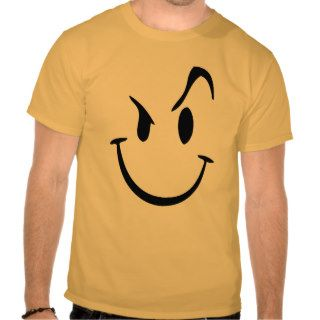 Crazy Smiley Graphic T Shirt