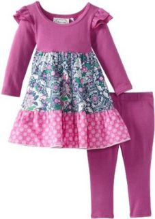 Maisonnette Baby Girls Infant Fairytale Dreams Baby Half Knit Dress And Leggings Clothing