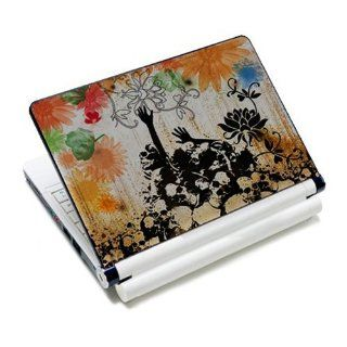 Flower & Skull Laptop Protective Skin Cover Sticker Decal Protector Cover   12.1 13.3 14 15.6 16 Inch For Asus Dell Fujitsu HP Lenovo Electronics