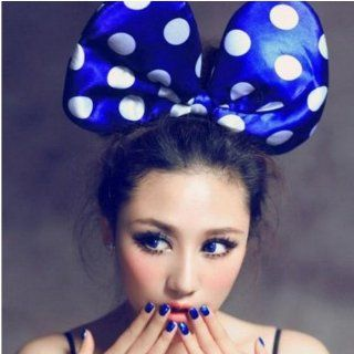 Blue   LED Flash Light Hair Band   Minnie Mouse Dotted Head Band   Luminous Hair Band   Party Masquerade Costume Accessory by Melody