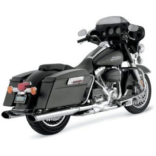 Vance & Hines Chrome Oval Twin Slash Slip On Mufflers For Various Harley Davidson Models ( See Specifications For Exact Fitments )   16767 Automotive