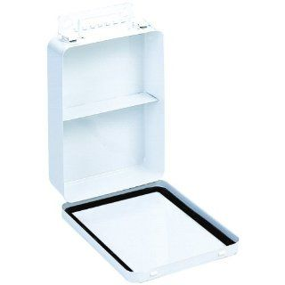 "Durham 505 43 White Metal 16 Unit Vertical Empty First Aid Kit Box, 6 5/16"" Width x 9 1/16"" Height x 2 3/8"" Depth"