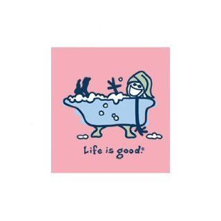 Life Is Good Womens Short Sleeve T shirts Bubble Bath on Petal   Small Sports & Outdoors