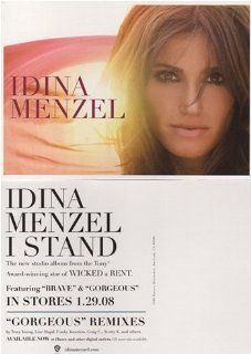 Idina Menzel   I Stand   Original Promotional Card   5 x 7  Prints