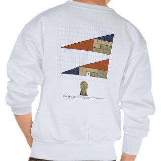 Missing Square Puzzle Makes You Scream Pullover Sweatshirts