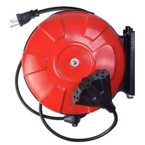 Woods 30 ft. 14/3 Cord Reel Power Station with 3 Grounded Outlets 48006
