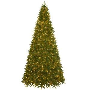 National Tree Company Feel Real 10 1/2 ft. Frasier Fir Medium Tree with Clear Lights PEFF4 302E 105X
