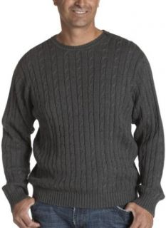 IZOD Men's Cable Crew Neck Sweater, Carbon Heather, Large at  Men�s Clothing store Pullover Sweaters