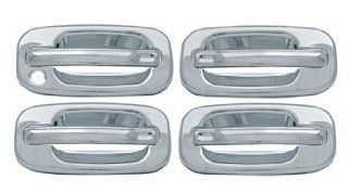 2000, 2001, 2002, 2003, 2004, 2005, 2006 Chevy Avalanche, Tahoe, Suburban GMC Yukon 4 Door Chrome Door Handle Cover Kit (No PSKH) Automotive
