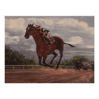 The Winner  Thoroughbred Horse Racing Painting Print