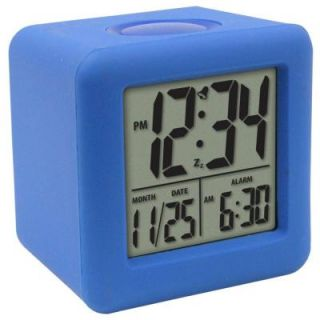 La Crosse Technology 3 1/4 in. x 3 1/4 in. Soft Blue Cube LCD Digital Alarm Clock 70905