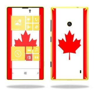 Protective Vinyl Skin Decal Cover for Nokia Lumia 520 Cell Phone T Mobile Sticker Skins Canadian Flag Computers & Accessories