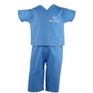 "Scoots Toddler Scrubs ""Big Brother"", Blue Infant And Toddler Costumes Clothing"