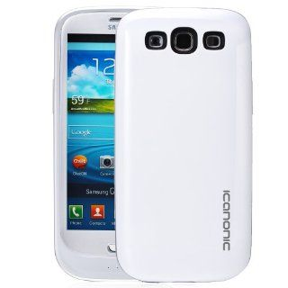 iCanonic Elite Samsung Galaxy S3 Battery Case   Glossy White, Protective Bumper Style Battery Case for Samsung Galaxy S3, Samsung Galaxy SIII, Samsung Galaxy I9300 Cell Phones & Accessories