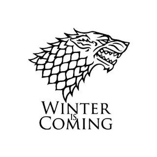Stark Dire Wolf Winter is coming Game of Thrones die cut Vinyl Decal sticker   choose Colors