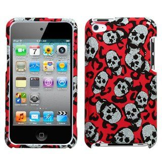 Hard Plastic Snap on Cover Fits Apple iPod Touch 4 (4th Generation) Leopard Skulls (Sparkle) (does NOT fit iPod Touch 1st, 2nd, 3rd or 5th generations) Cell Phones & Accessories