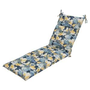 Hampton Bay Splash Floral Outdoor Chaise Lounge Cushion 7407 01002200