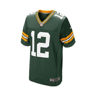 NIKE Mens Green Bay Packers Aaron Rodgers Elite Team On Field Jersey   Size